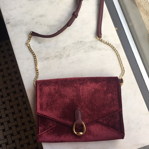 18ac5667e713 Lauren Ralph Lauren Handbags - Brand New Red Velvet Envelope Crossbody Bag